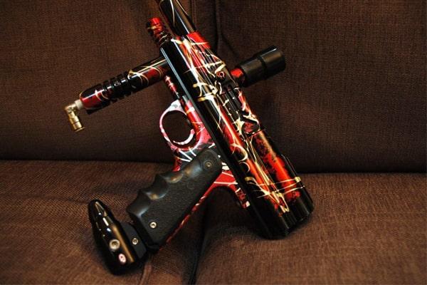 Design of paintball guns